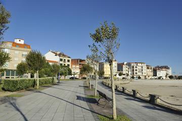 Maritime promenade, O Grove, Pontevedra, Galicia, Spain