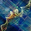 Digital illustration of  DNA .
