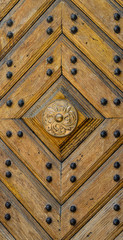 Wooden panel texture with pattern and studs