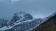 View over Pyrenees mountains time-lapse