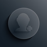 Vector dark circle icon. Eps10