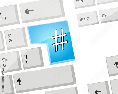 Clavier Ordinateur : Hashtag