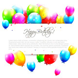 Fototapety Birthday balloons on isolated background with place for text