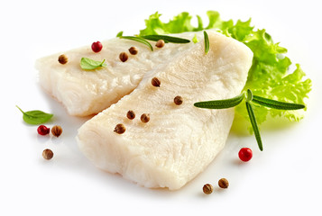 prepared fish fillet pieces