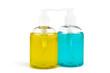 Two vials of liquid soap