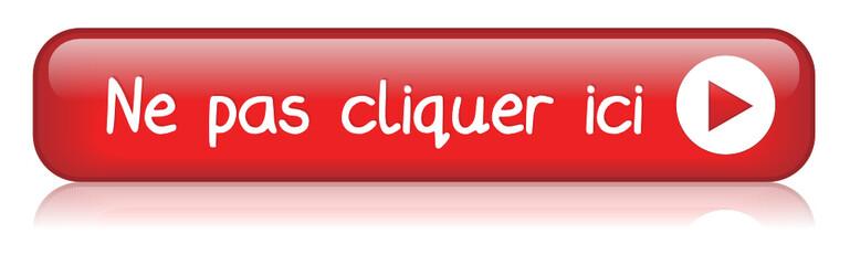 """Bouton Web """"NE PAS CLIQUER ICI"""" (clic souris connexion cliquez)"""