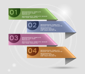 Infographics design with numbered banners. Eps10 vector