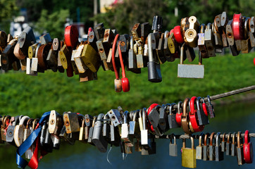 A lot of the closed lock