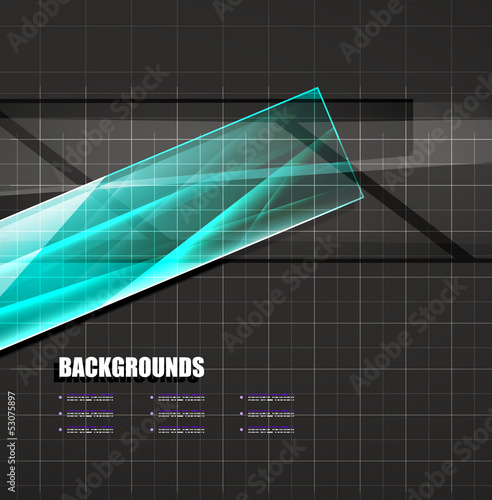 Colorful glass lines vector