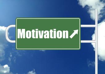 Motivation road sign board
