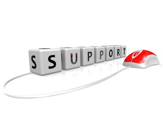 Support with mouse