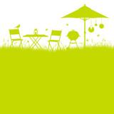 Garden Barbecue Background