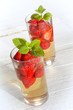 strawberry punch with fresh mint