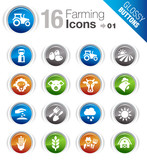 Glossy Buttons - Agriculture and Farming icons