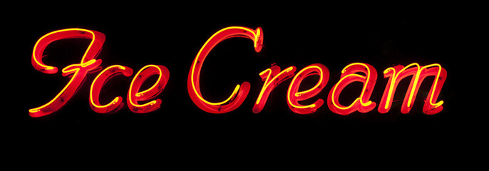 Ice cream neon sign