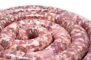 raw sausage- spiral
