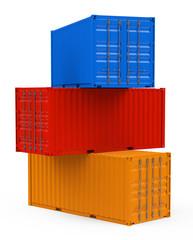Die Frachtcontainer