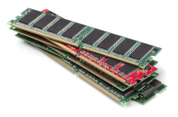 Stack of various RAM modules
