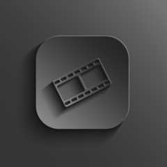Film icon - vector black app button