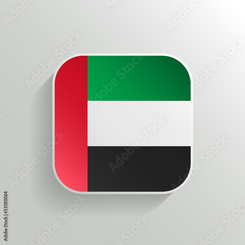 Vector Button - United Arab Emirates Flag Icon