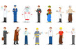 vector illustration of people of different profession