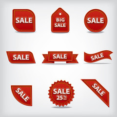sale labels and tags