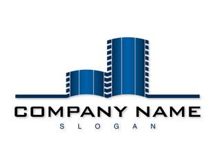 Blue building logo