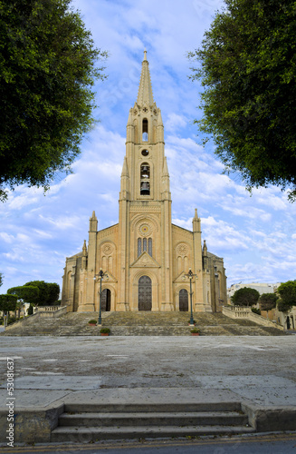 Ghajnsielem Parish Church in Gozo