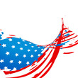 wave style american flag design