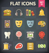 Universal Flat Icons for Web and Mobile Applications Set 10