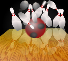 bowling skittle ball