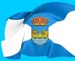 Flag of Pontevedra, Spain.
