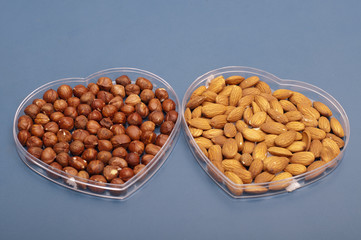 Almonds and hazelnuts