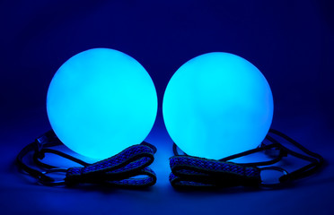 luminous poi - equipment for juggling