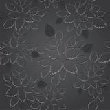 Seamless black leaves lace wallpaper pattern