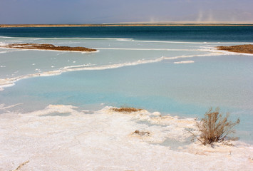 landscape on the dead sea