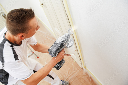 professional painter at work