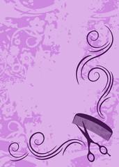 beauty salon flyer or background