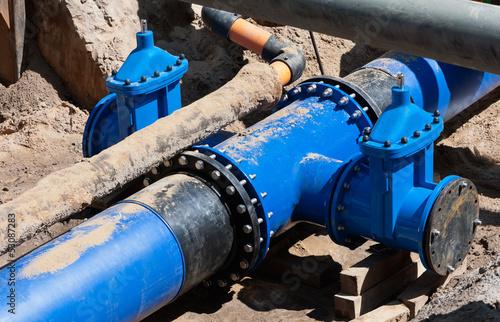 Wasserversorgung - neue Wasserleitung - Kreuzung