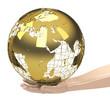 Die goldene Weltkugel