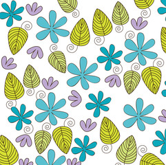 flowers and leaves background