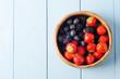 Summer Fruit Bowl Overhead