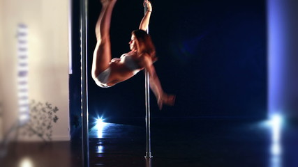 Pole dance woman.