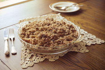 Crumb topped apple crisp dessert
