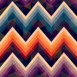 seamless retro zig zag background