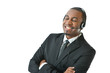 Customer Service Representative Speaking and Smiling