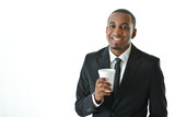 Businessman Holding Beverage