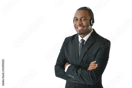 Customer Service Representative with Arms Crossed