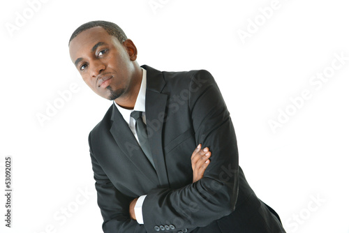 Businessman with Serious Expression