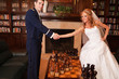 Newlywed Couple Chess Match